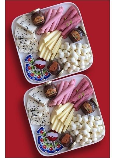 Kitchen Love 2 Adet Beyaz Seramik 22X22X2Cm Kare Yemektabağı Beyaz